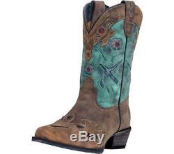 Dan Post Western Boots Girls Bluebird Kids Cowboy 3 Child Teal DPC2151