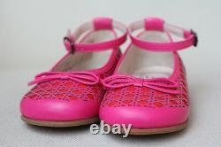 Dior Baby Girls Pink Leather Micro Cannage Shoes Eu 22 Uk 5
