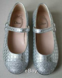 Dior Kids Girls Lambskin Leather And Sequin Ballerinas Eu 28 Uk 10