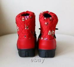 Dolce And Gabbana Kids Girls Floral Snowboots Eu 29/30 Uk 11/12