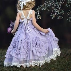 Dollcake Miss Goody Two Shoes Frock Dress w Sash Girls sz 4 HTF