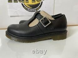 Dr. Marten Polly pw Black Leather Casual Shoes Size UK 4 EU 37