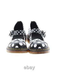 Dr. Martens Polka Dot Black White Mary Jane Flats Shoes 9 Rare