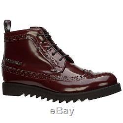 Dsquared2 Girls Shoes Child Boots Leather New Bordeaux 2e0