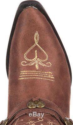 Durango Western Boots Girls 8 Lil Crush Heartfelt Brown DBT0135