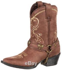 Durango Western Boots Girls Crush Big Kid Heartfelt Brown DBT0136