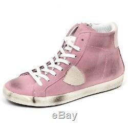 E1580 sneaker bimba rosa antico PHILIPPE MODEL scarpe shoe kid girl