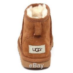 E7768 stivale bimba light brown UGG K CLASSIC MINI scarpe boot kid girl