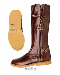 Elephantito Girls' Riding Fashion Boot, Brown, 3 M US Little Kid