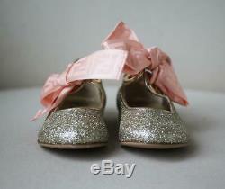 Fendi Kids Girls Leather Glitter Shoes Eu 28 Uk 10