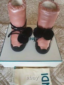 Fendi Kids Shoes Pom Pom Snow / Moon Boots / Shoes. Size 13 / 33 Designer