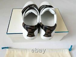 Fendi Roma White Sneaker Ff Logo Shoes Size 31/13 USA Kids Unisex