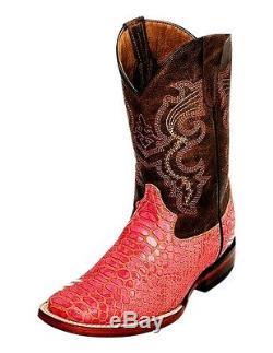 Ferrini Western Boots Girls Kids Python Print Square Pink 70693-20