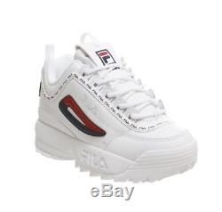 Fila Disruptor 2 White Repeat Brand New In Box In Sizes 3 4 5 6 7 8 Kids Girls