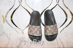 GUCCI Girls/KIDS GG Supreme Butterfly Slide Sandals Beige Size 32EU 1 US