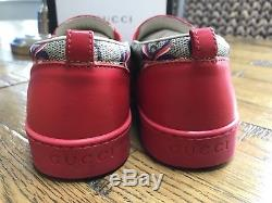 GUCCI Kids/Girls GG Sylvie Bow Sneakers/Shoes Red Size EU 33 UK 1.5 Free UK P&P
