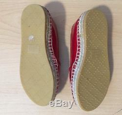 GUCCI Kids Girls Shoes Red Flats Size 27 US 9-10 NEW
