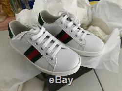 GUCCI New Ace Leather Shoe For Kids Size US 10.5