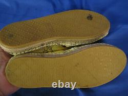 GUCCI Yellow Floral CANVAS ESPADRILLES FLATS SHOES Girls Youth US SIZE 3, UK 2