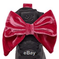 Girls' Big Kids' Air Jordan 1 Mid Bow Casual Shoes Black/Black/Noble Red CK5678