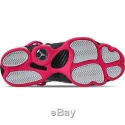 Girls' Big Kids' Jordan 6 Rings Basketball Shoes Black/Hyper Pink/White 323399 0