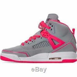 Girls' Big Kids' Jordan Spizike (3.5y 9.5y) Basketball Shoes Wolf Grey/Racer P