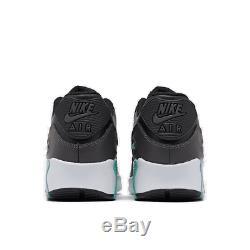 Girls' Big Kids' Nike Air Max 90 Leather Casual Shoes Black/Metallic Dark Grey/T