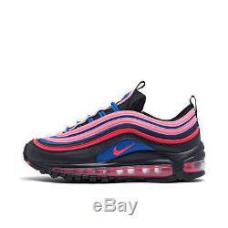 Girls' Big Kids' Nike Air Max 97 SE Casual Shoes Black/Flash Crimson/Racer Blue
