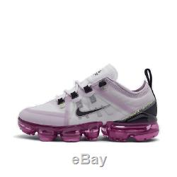 Girls' Big Kids' Nike Air VaporMax 2019 Running Shoes Photon Dust/Black/Iced Lil