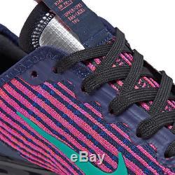 Girls' Big Kids' Nike Air VaporMax Flyknit 3 Running Shoes Blackened Blue/Kineti