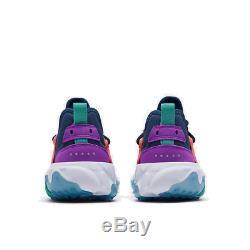 Girls' Big Kids' Nike React Presto Running Shoes Midnight Navy/Kinetic Green/Mag