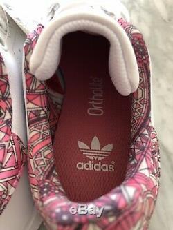 Girls Kids Adidas Stan Smith Size4 White / Pink