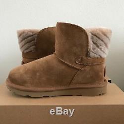 Girls Kids Size 4 UGG Analia II Suede Boots Chestnut Brown Warm Wool Winter