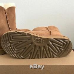 Girls Kids Size 4 UGG Irina Star Charm Boots Chestnut Brown Warm Wool Winter