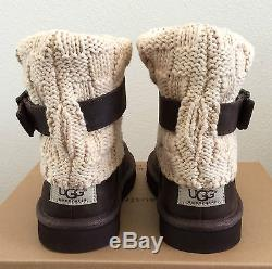 Girls Kids Youth Size 13 Brown UGG Cambridge Leather & Sweater Boot 1008174K