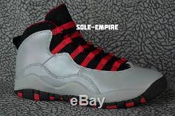 5681a3ed1978 Girls Nike Air Jordan 10 Retro X Gs 487211-009 Wolf Grey Black Legion Red  Ds Kid