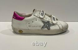 Golden Goose Designer Superstar Pink White Sneakers Kids Girls Shoes 31/13 Mint