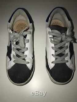 Golden Goose Distressed Superstar Sneakers Kids Boys Girls Size 30
