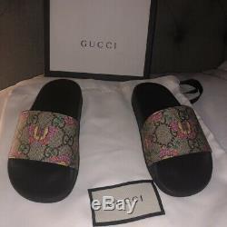 Gorgeous Girls Kids Gucci Print butterfly Sliders Size Uk 9 Eu27