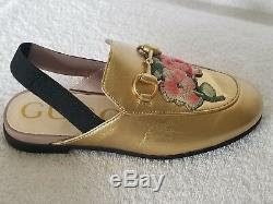 Gucci Children's Princetown Slipper With Applique's Size 28