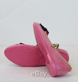 Gucci Girl Children's Pink Suede Ballet Flats withBee and Bow 32/US. 5 455396 5679