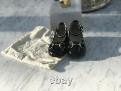 Gucci Girls Black Horsebit Patent ballet Shoes Size 22