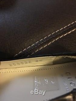 Gucci Girls Charlotte Leather Ballet Flats, Size 28 Eur/ 11 Us(child), Nib