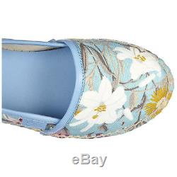Gucci Girls Espadrilles Slip On Shoes Baby Child Cotton New Flora Nappa Loli 6aa