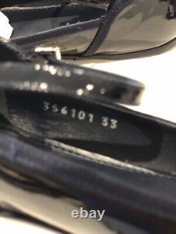 Gucci Girls Navy Blue Patent ballet Shoes Size 33 £220 Uk 13.5