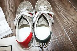 Gucci Girls / kids leather canvas sneakers shoes Sz 32EU/ 1 USA