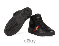 Gucci Kids Boys Girls Children's Leather Web High-top Sneakers Size 2US / 33EU
