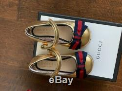 Gucci Kids Cindy ballerina flats size 20 new in box