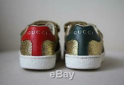 Gucci Kids Girls Ace Glitter Sneakers Eu 27 Uk 9