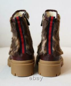 Gucci Kids Girls Faux Fur And Leather Boots Eu 28 Uk 10
